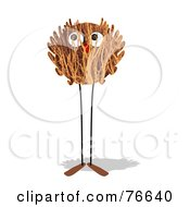Royalty Free RF Clipart Illustration Of A Leggy Twig Ball Creature by NL shop
