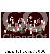Royalty Free RF Clipart Illustration Of A Year 2010 With Stick People Characters On A Brown Background