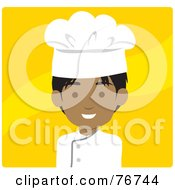 Royalty Free RF Clipart Illustration Of An Indian Avatar Chef Man Over Yellow