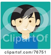 Royalty Free RF Clipart Illustration Of A Friendly Asian Man Avatar On Green