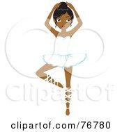 Graceful Black Ballerina Woman Dancing