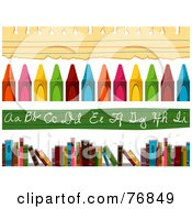 Royalty Free RF Clipart Illustration Of A Digital Collage Of School Item Borders