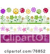 Royalty Free RF Clipart Illustration Of A Digital Collage Of Flower Borders