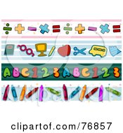 Royalty Free RF Clipart Illustration Of A Digital Collage Of School Borders