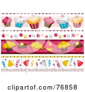 Royalty Free RF Clipart Illustration Of A Digital Collage Of Birthday Borders by BNP Design Studio