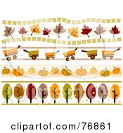 Royalty Free RF Clipart Illustration Of A Digital Collage Of Autumn Borders by BNP Design Studio