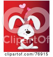 Royalty Free RF Clipart Illustration Of A Sweet Love Bunny Rabbit Holding A Heart by Qiun