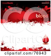 Royalty Free RF Clipart Illustration Of A Blood Bank Website Template With A Droplet And Search Box