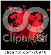 Messy Blood Splat On Black by michaeltravers