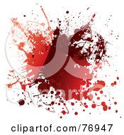Messy Blood Splat On White by michaeltravers