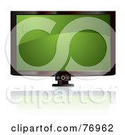 Royalty Free RF Clipart Illustration Of A LCD Television With A Green Wavy Screen by michaeltravers