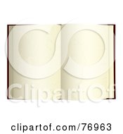 Royalty Free RF Clipart Illustration Of An Open Book With Blank Aged Pages