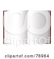 Royalty Free RF Clipart Illustration Of An Open Book With Blank New Pages