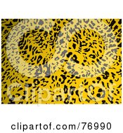 Royalty Free RF Clipart Illustration Of A Yellow Sand Leopard Print Pattern