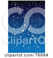 Royalty Free RF Clipart Illustration Of A Blue Snowy Background by michaeltravers