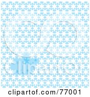 Royalty Free RF Clipart Illustration Of A Blue And White Snowflake Background by michaeltravers