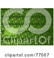 Royalty Free RF Clipart Illustration Of A Green Abstract Star Background With A Text Box