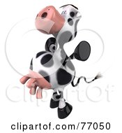 Royalty Free RF Clipart Illustration Of A 3d Horton The Cow Leaping by Julos