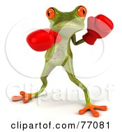 3d Green Tree Frog Boxer Version 2 by Julos