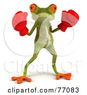 3d Green Tree Frog Boxer Version 1 by Julos