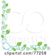 Royalty Free RF Clipart Illustration Of A Bell Flower Vine Corner Border by Rosie Piter
