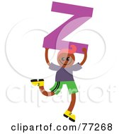 Alphabet Kid Holding A Letter Boy Holding Z