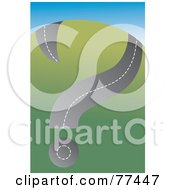 Royalty Free RF Clipart Illustration Of A Question Mark Road On The Side Of A Hill by Prawny