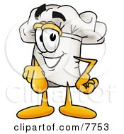 Clipart Picture Of A Chefs Hat Mascot Cartoon Character Pointing At The Viewer