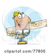 Poster, Art Print Of Hispanic Worker Man A Wood Plank
