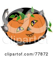 Halloween Pumpkin With Cat Feet Ears And Tail