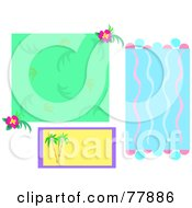 Digital Collage Of Floral And Tropical Backgrounds