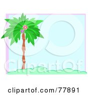 Blue Palm Tree Background With Text Space