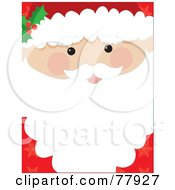Royalty Free RF Clipart Illustration Of A Santa Face Closeup Background With Text Space On His Beard