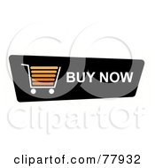 Royalty Free RF Clipart Illustration Of A Black Buy Now Shopping Cart Button On White by oboy