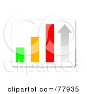 Royalty Free RF Clipart Illustration Of A Colorful Bar Graph Statistics Button