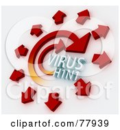 Royalty Free RF Clipart Illustration Of 3d Arrows Spreading The H1N1 Virus