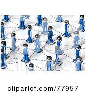 Royalty Free RF Clipart Illustration Of A 3d Network Of Toy People by Tonis Pan