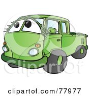 Green Hippy Micro Truck With A Face