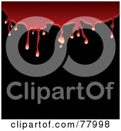 Royalty Free RF Clipart Illustration Of A Background Of Red Blood Dripping Over Blackness