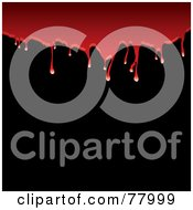 Royalty Free RF Clipart Illustration Of A Background Of Red Blood Dribbling Over Blackness by michaeltravers