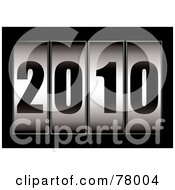 Royalty Free RF Clipart Illustration Of A Ticker With The Year Reading 2010 On Black by michaeltravers
