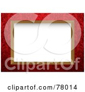 Royalty Free RF Clipart Illustration Of A White Background Framed With Wood And Red Floral Designs by michaeltravers