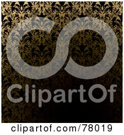 Royalty Free RF Clipart Illustration Of A Dark Golden Tunnel Wallpaper Background Pattern by michaeltravers