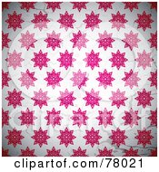 Royalty Free RF Clipart Illustration Of A Background Pattern Of Pink Starry Snowflakes On White by michaeltravers