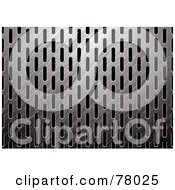 Royalty Free RF Clipart Illustration Of A Brushed Dark Metal Grate Background