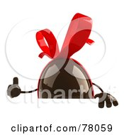 Royalty Free RF Clipart Illustration Of A 3d Chocolate Easter Egg Character Giving The Thumb Up And Holding A Sign