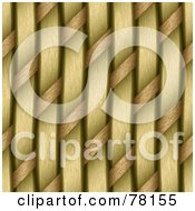 Royalty Free RF Clipart Illustration Of A Seamless Background Of Woven Strands by Arena Creative