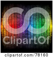 Royalty Free RF Clipart Illustration Of A Grungy Vertical Rainbow Stripe Background