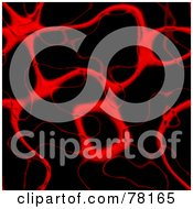 Royalty Free RF Clipart Illustration Of A Seamless Background Of Red Blood Veins And Arteries On Black