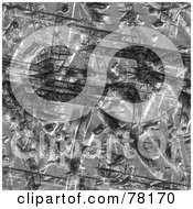 Royalty Free RF Clipart Illustration Of A Seamless Background Of Worn And Gouged Metal